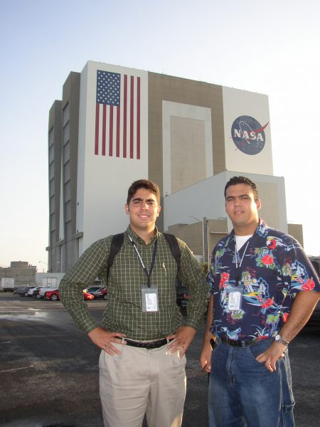 Edsel Sanchez and Rene Formoso, FIU alums who interned at NASA and received full-time job offers.