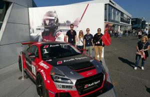Fernando Rojas at an Audi Sport Showcase with colleagues in Germany.