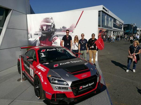 Fernando Rojas at an Audi Sport Showcase in Germany.
