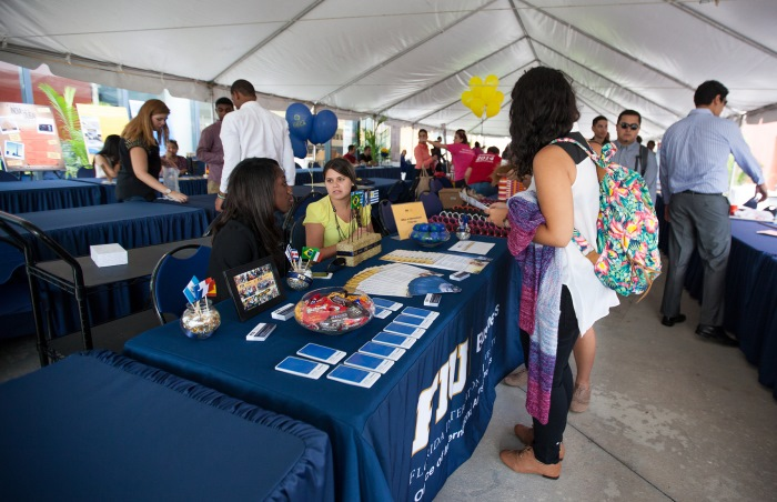 PricewaterhouseCoopers (PwC), which sponsored this welcome event at the College of Business last year, was one of ten companies named to FIU's President's Internship Honor Roll.