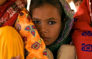 Photo of a young girl in Pakistan by National Geographic Society Photojournalist Annie Griffiths.
