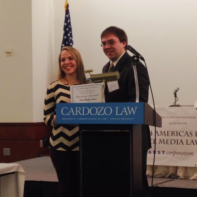 Third-year law student Paula Barbieri Janvion is named on of the top five orators of the Americas Regional Round.