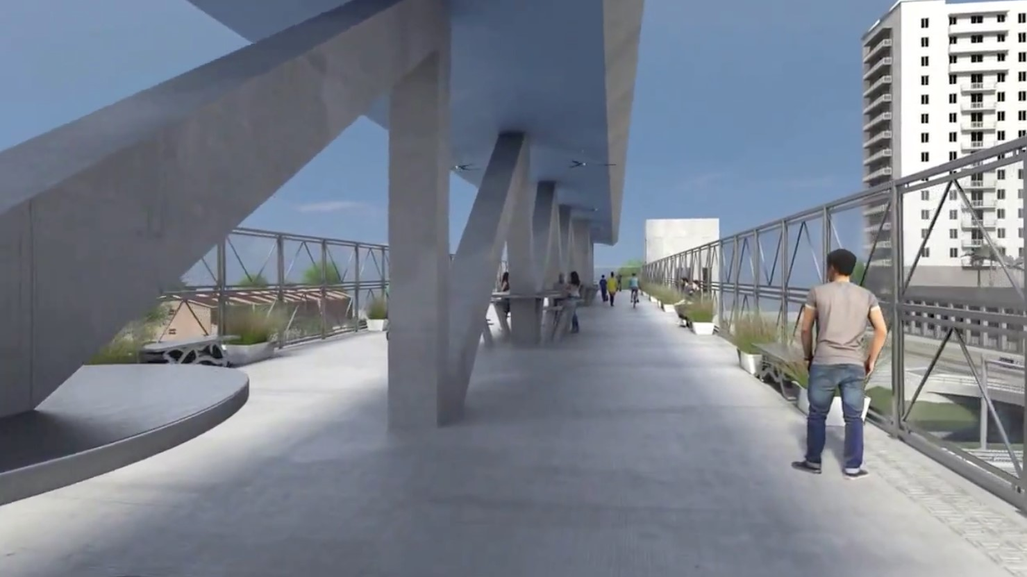 Pedestrian bridge rendering 2.5.16 2