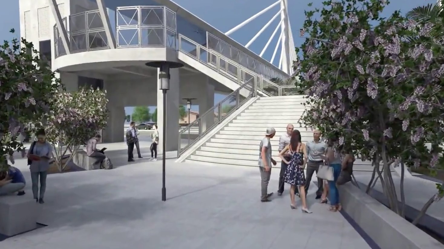 Pedestrian bridge rendering 2.5.16 3