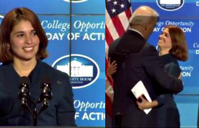 Alumna introduces Vice President Biden at White House college summit