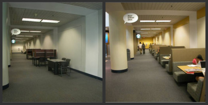 Before And After Shots Of The Green Lobby Library