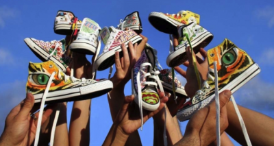 The Art of Giving Project wants you: Donated sneakers to be painted by art students