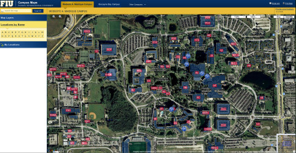 Interactive campus maps available