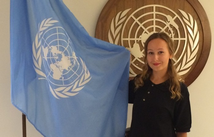 Graduate student represents Russia at UN summit
