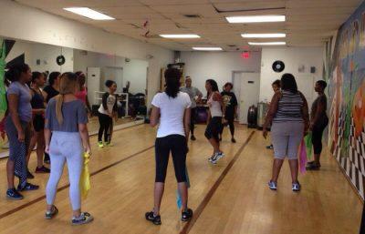 Reggae Fit Instructor Rachel Chang teaching her class