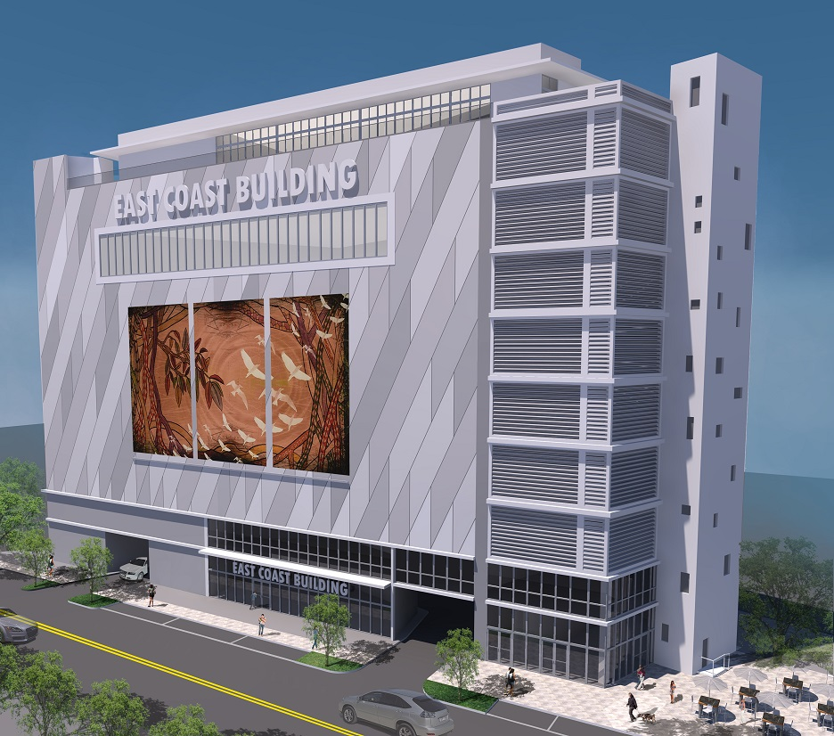 Rendering of Miami River building, to be completed Spring 2015