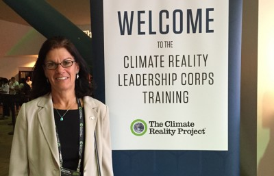 Rita Teutonico of the FIU School of Environment, Arts and Society participated in the Climate Reality Leadership Corps Training to mobilize citizens to take action on the climate crisis.