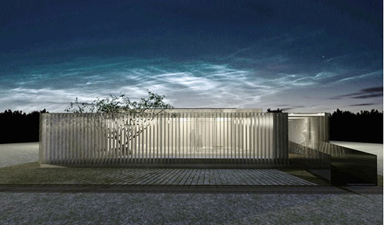 Rendering of the house being developed by students from Tsinghua University and FIU for the Solar Decathlon China 2013 competition.