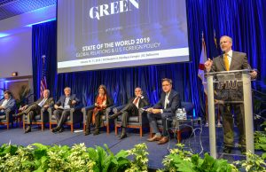 Green School Senior Fellow David Kramer speaks during State of the World 2019.