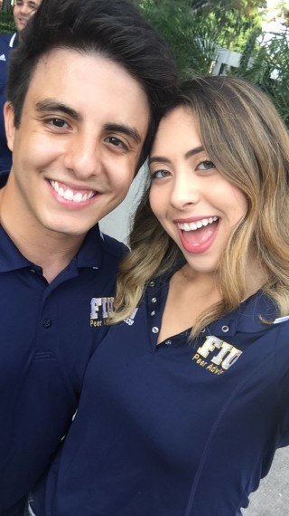 Eneida Bermudez and Pablo Ortiz, 2016 Peer Advisors, at the SROW conference at East Carolina University.