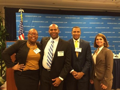 From left to right: Felecia Hatcher of Miami; Dr. Donnie Hale; Dr. Marcus Bright, Executive Director of Education for a Better America; and Dr. Idaykis Rodriguez at the White House's Summit January 15.