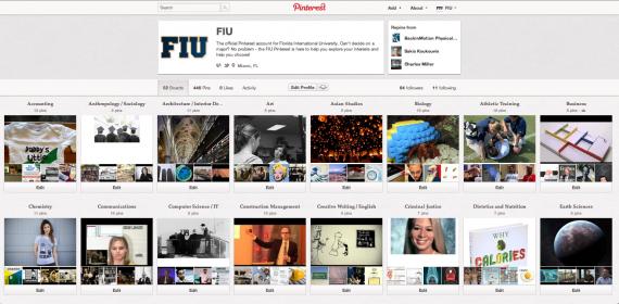 FIU's Pinterest to help students visually explore majors