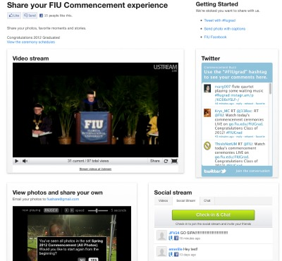 Watch Commencement live and share your graduation experience