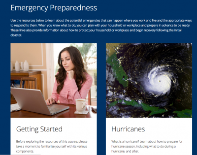 Free online course helps community prepare for an emergency