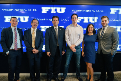 Panelists and employees of FIU in D.C. after the panel