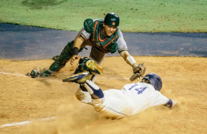 Baseball stuns Hurricanes again with walk-off win