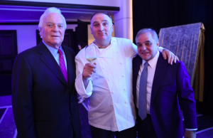 Left to right: Mel Dick, Chef Jose Andre, Lee Brian Schrager
