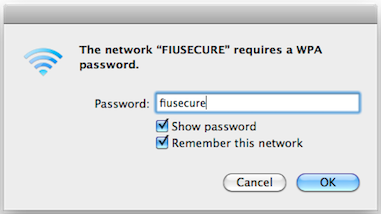 When asked for the passphrase, type fiusecure (all lowercase).