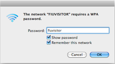 When asked for the passphrase, type fiuvisitor (all lowercase).