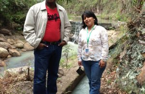 Setegn (left) and Manueles (right) pose at a local watershed in Santa Ines, Honduras.