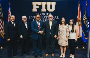 Costa Rican president leads candid conversation, receives university's Presidential Gold Medallion