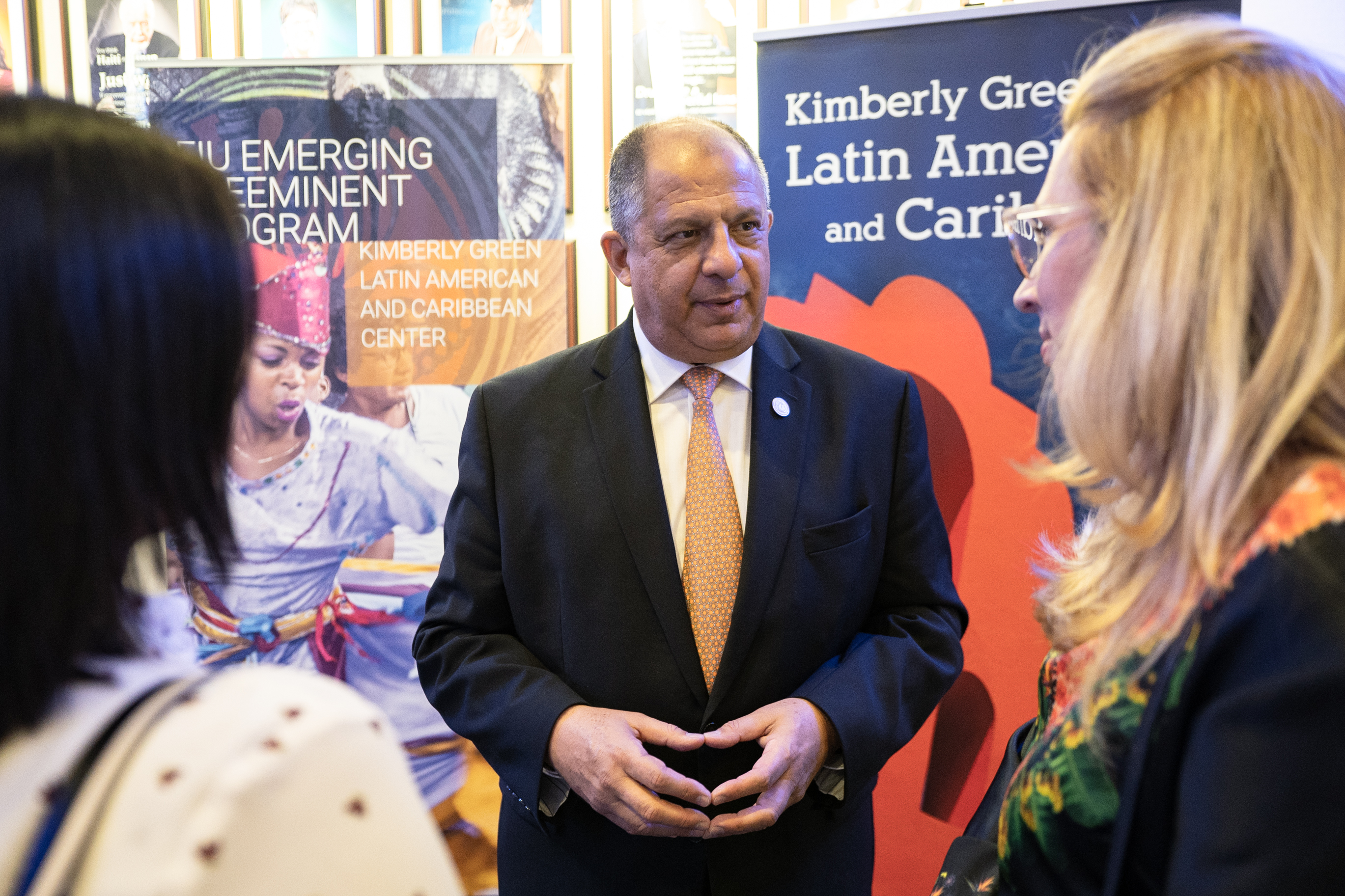Former President of Costa Rica Luis Guillermo Solís Rivera discussed the future of the Americas at his first presentation as a Distinguished Visiting Scholar at the Kimberly Green Latin American and Caribbean Center.