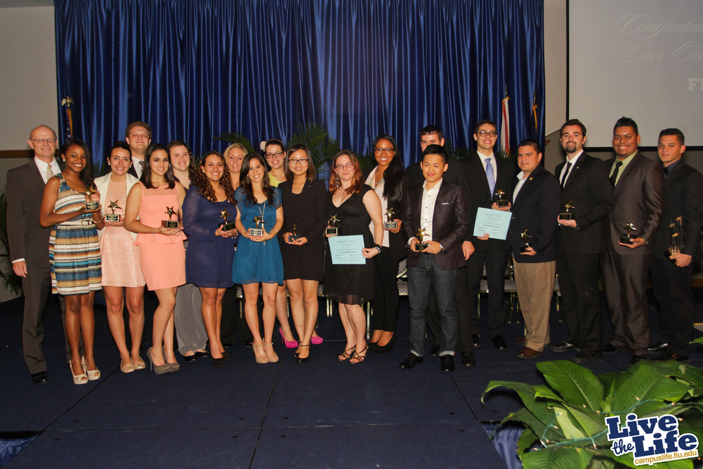 Recipients of the 2013 Outstanding Student Life Awards.