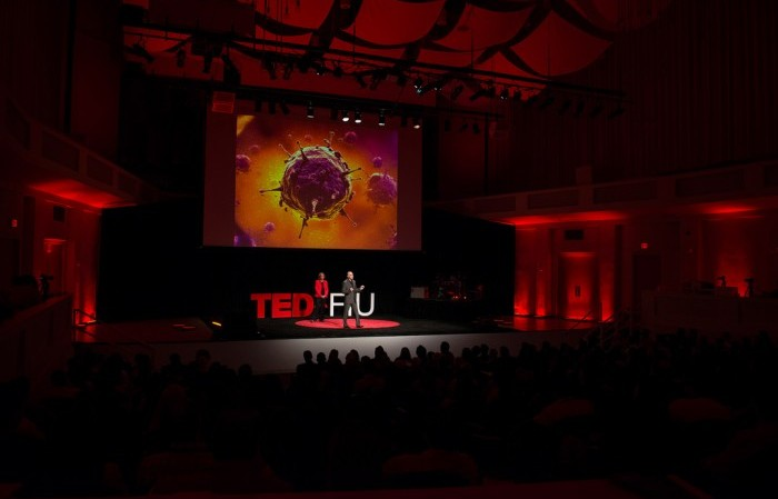 Dr. Carolyn D. Runowicz, and Sakhrat Khizroev, explained how nanotechnology could cure ovarian cancer at the TEDxFIU 2015 event