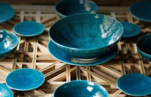 Turquoise Mountain: Artists Transforming Afghanistan, features traditional Afghan woodwork, ceramics, jewelry and other crafts.  The exhibit is the first showing of the work since it premiered at the Smithsonian Institution in Washington, D.C. in 2016.