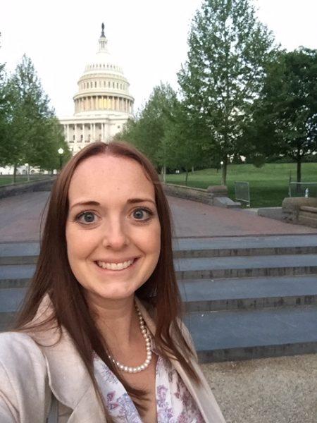 Ashley Ruttenberg at the U.S. Capitol building