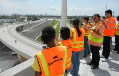 High schools students explored the construction taking place at the junction of FL-826 and FL-836.