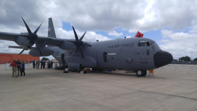 U.S. Air Force Reserve WC-130 J Hurricane Hunter.