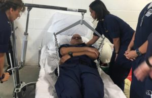 Students use classroom training in hurricane shelter