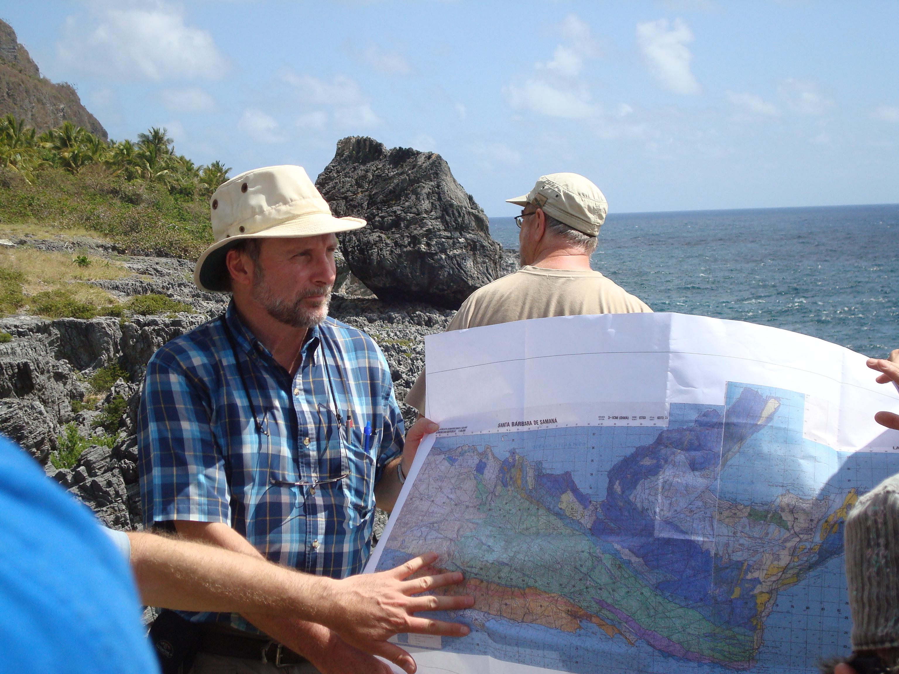 Grenville Draper engages in field work in Santa Barbara de Samana, Dominican Republic.