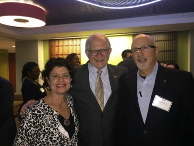 President Mark Rosenberg with Angela Calos and Daniel Basta, Director of NOAA's Sanctuaries.