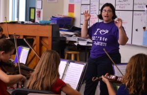 Alumna in tight race for music-educator Grammy award
