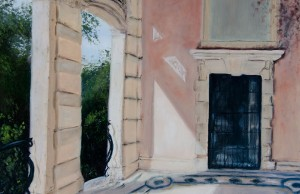 "Melissa Guanch Carter's ""Vizcaya Casino"" will go on display in the GC Student Art Gallery from Sept. 12 to Sept. 26 as part of the Painting in the Gardens exhibition featuring works by students in the College of Education's art education program."