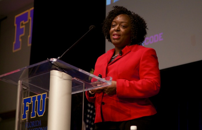Kimberly Bryant, CEO and co-founder of Black Girls Code, served as the 2016 keynote speaker at the Women Who Lead conference.