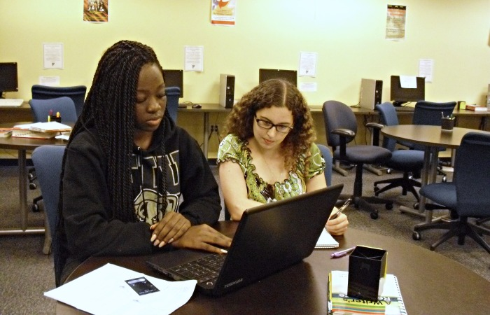 Peer tutoring helps local young writers