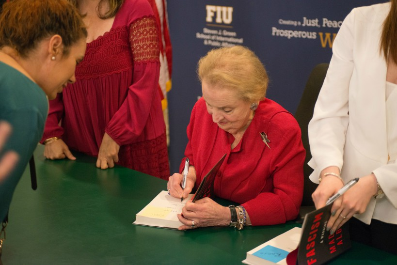 Albright book signing