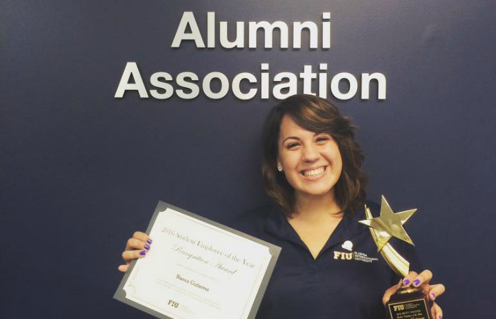 FIU names 2016 Student Employee of the Year