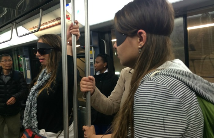 blind on train as part of study abroad