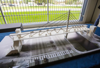 A model of the proposed bridge crossing SW 8th Street at 109th Avenue