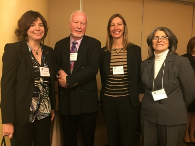 From left to right: Evelyn Gaiser, Richard Olson, Tiffany Troxler, and Maria Donoso.