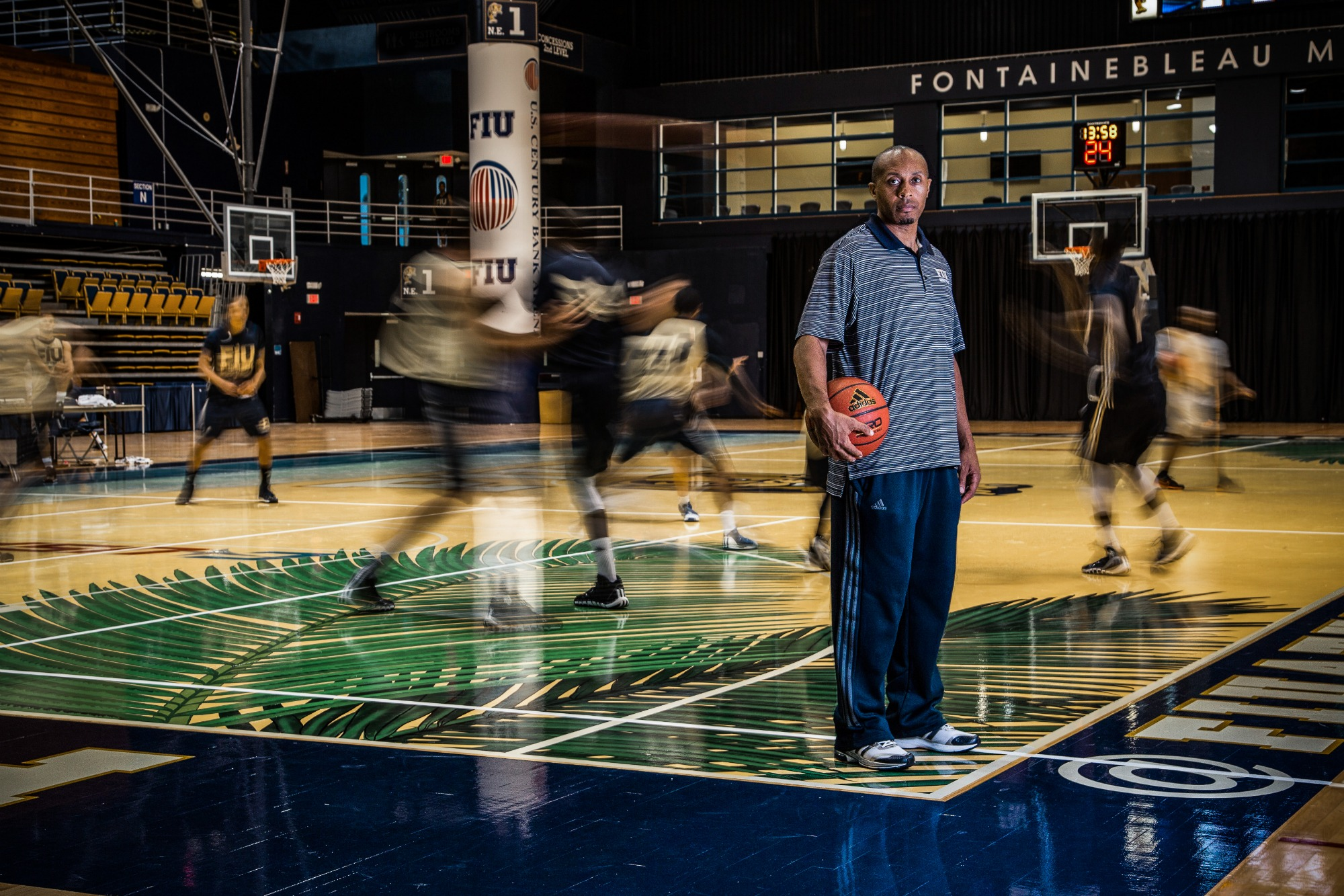 Florida International University men's basketball coach Anthony Evans